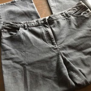 Sag Harbor grey cotton jeans size 14 great cond